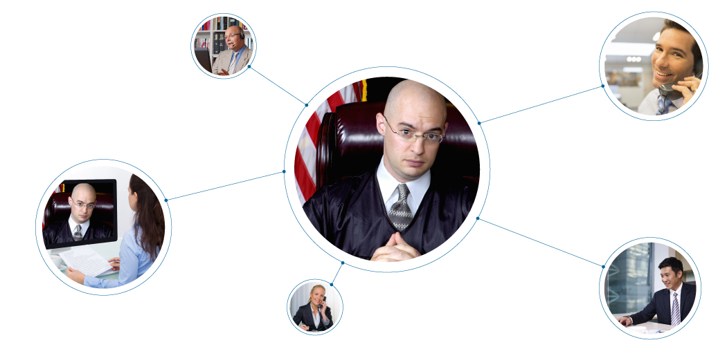 Remote Court Appearance Diagram - CourtCall